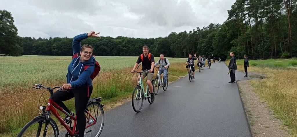 eine Fahrradtour
