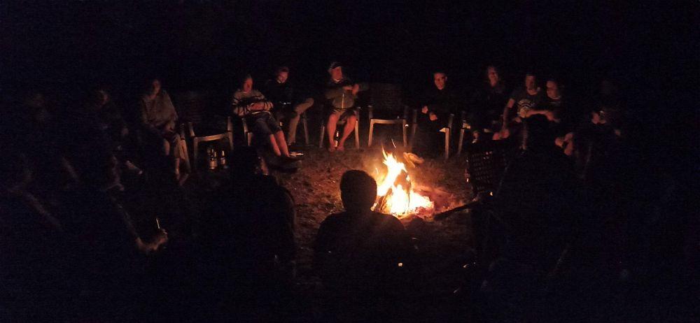 letzter Abend am Lagerfeuer